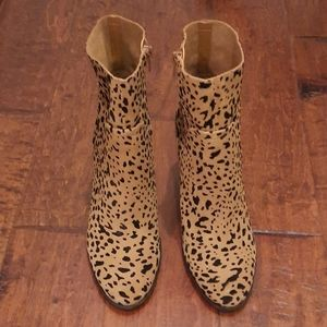 Gibson Latimer Lessoni Leopard Suede Booties